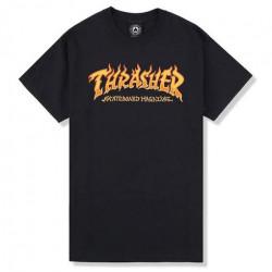 T-shirt THRASHER Fire Logo Black