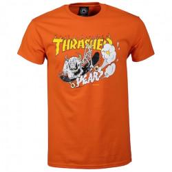 T-shirt THRASHER 40 Years Neckface Orange