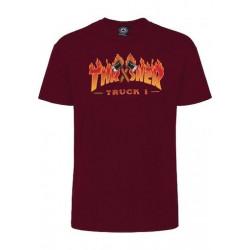 T-shirt THRASHER Truck Maroon