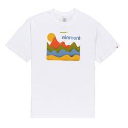 T-shirt ELEMENT Baskin Optic White