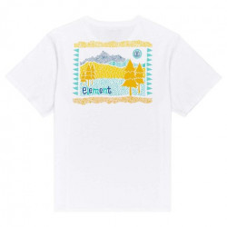 T-shirt Girl ELEMENT Walk About Optic White