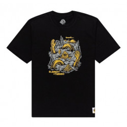 T-shirt ELEMENT Cracks Flint Black