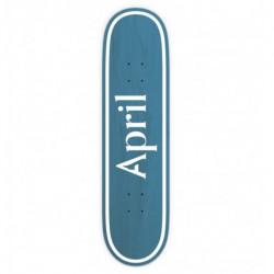 Skateboard APRIL Og Logo Invert Blue