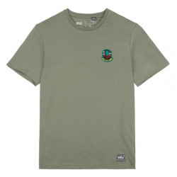 T-shirt PICTURE Badge Tree Dusty Olive