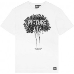 T-shirt PICTURE Badge D&S Tree White