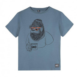 T-shirt Kid PICTURE Melvin Mirage Blue