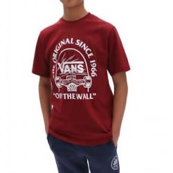 T-shirt Kid VANS Original Grind Pomegrana