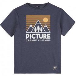 T-shirt kid PICTURE Fasty Dark Blue Melange