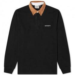 Polo CARHARTT WIP Cord Rygby Black Brown...