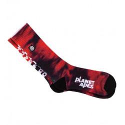 Chaussette ELEMENT Pota Skate Red Tie Dye