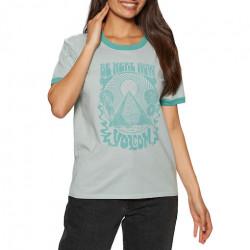 T-shirt Girl VOLCOM Truly Ringer Blue Fog