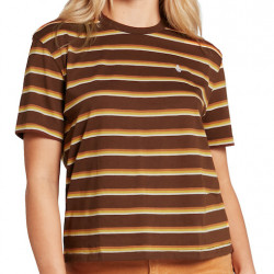 T-shirt Girl VOLCOM Choice Is Yours Brown