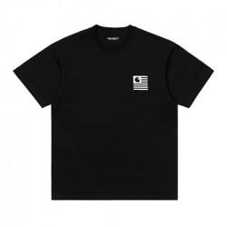 T-shirt CARHARTT WIP Wavy State Black White