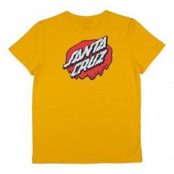 T-shirt Kid SANTA CRUZ Melting Dot Mustard