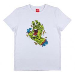 T-shirt Kid SANTA CRUZ Rob Hand White