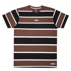T-shirt JACKER GMK Stripes Brown