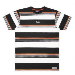 T-shirt JACKER Neo Retro Stripes Black White