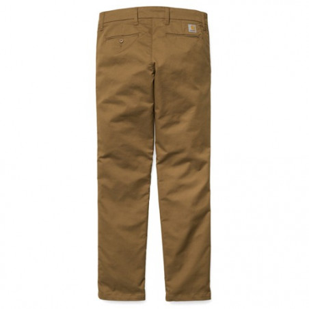 Pantalon CARHARTT WIP Sid Hamilton Brown Rinsed