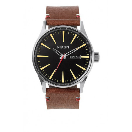 Montre NIXON Sentry Leather Black/Brown