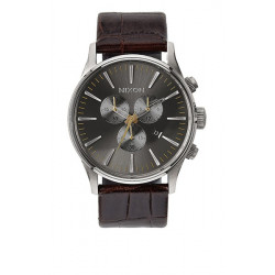 Montre NIXON Sentry Chrono Leather Brown/Gator