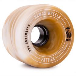 Roues Longboard HAWGS Fattie 70mm Mocha