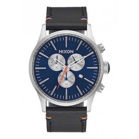 Montre NIXON Sentry Chrono Leather Blue Sunray