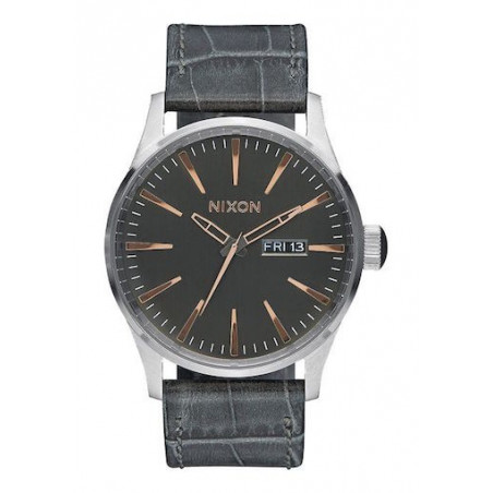 Montre NIXON Sentry Leather Gray Gator