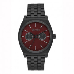 Montre NIXON Time Teller Deluxe All Black Burgundy
