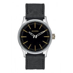 Montre Femme NIXON Sentry 38 Leather Black Brass