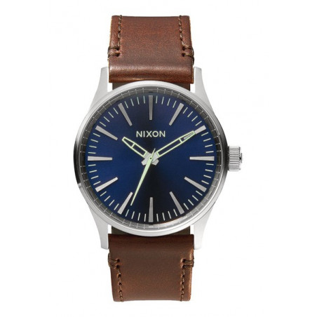 Montre Femme NIXON Sentry 38 Leather Blue Brown