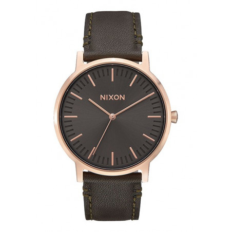 Montre Porter Leather Rose Gold/Gunmetal/Surplus