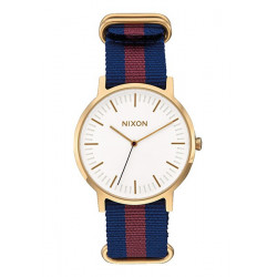 Montre Nixon Porter Nylon Gold/White/Red