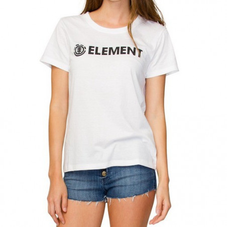 T-shirt Girl ELEMENT Crew Logo White