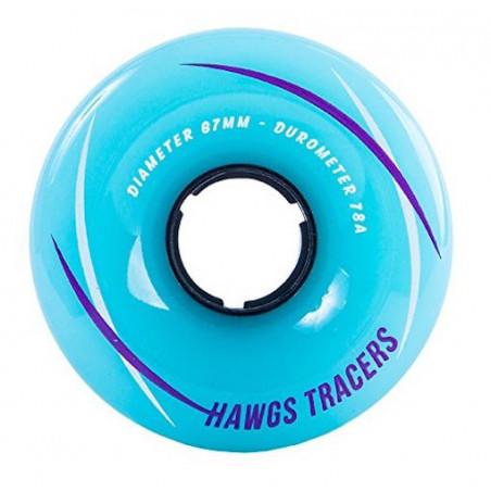 Roues Longboard HAWGS Tracer Teal 67mm