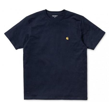T-shirt CARHARTT WIP Chase Dark Navy Gold